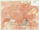 ATHENS vintage town city plan. Athènes. Greece, 1956 vintage map